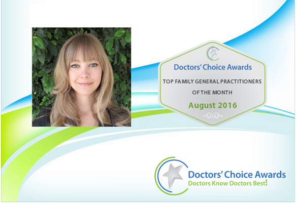 Dr. Nicole Cain Doctor Choice Award
