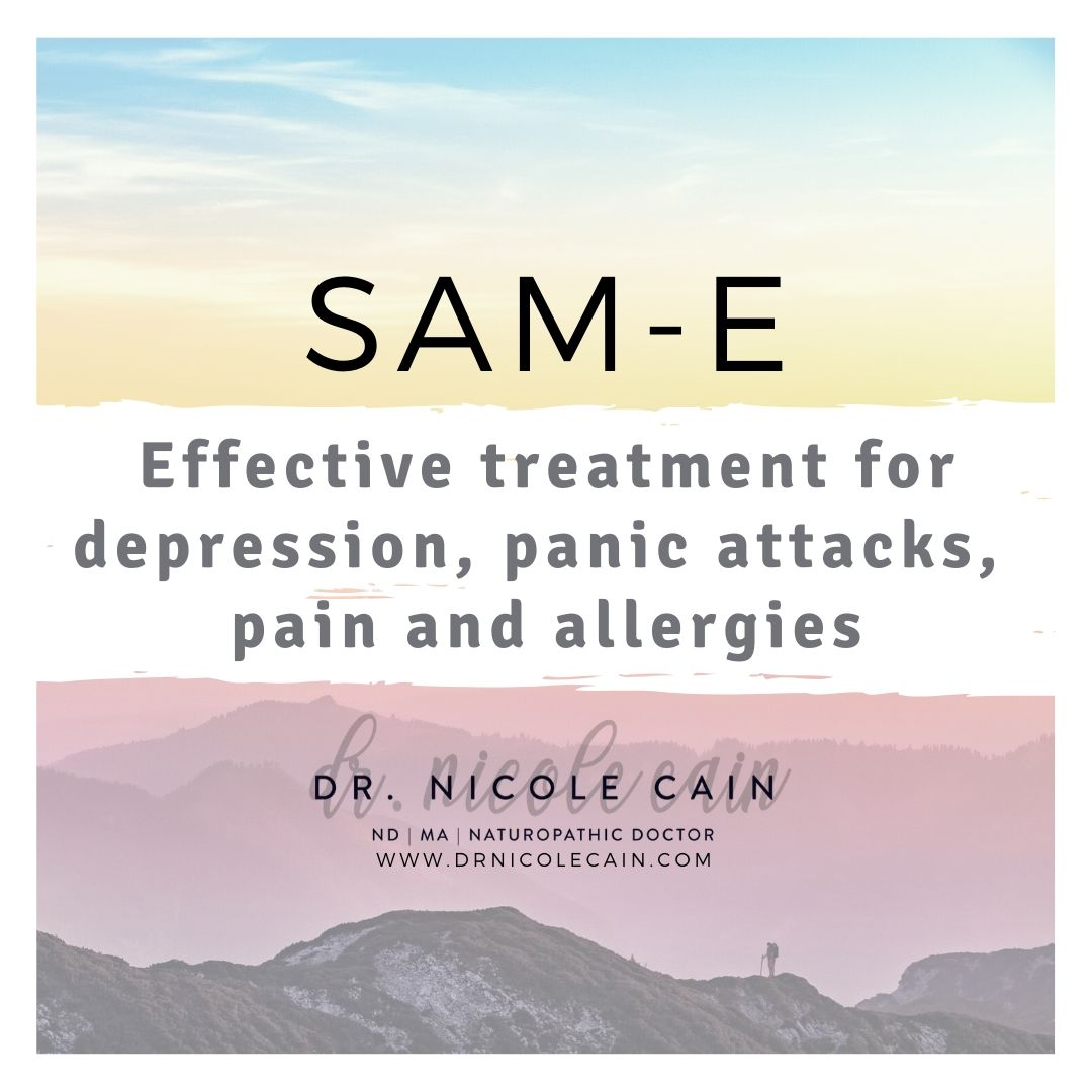 SAM-E: Treatment for depression, panic attack and allergies